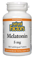 Natural Factors Melatonin 5 mg 180 Sublingual Tablets