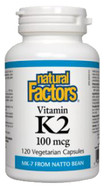 Natural Factors Vitamin K2 100 mcg 120 Veg Capsules