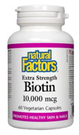 Natural Factors Biotin 10000 mcg 60 Veg Capsules