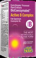 Natural Factors BioCoenzymated Active B Complex 60 Veg Capsules