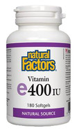 Natural Factors Vitamin E 400 IU 180 Softgels