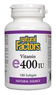 Natural Factors Vitamin E 400 IU 180 Softgels