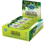 Whole Earth & Sea Organic Vegan Greens Protein Bar By Natural Factors Box of 12