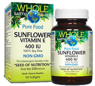 Whole Earth & Sea Sunflower Vitamin E 400 IU 90 Softgels By Natural Factors