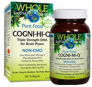 Whole Earth & Sea Cogni-Hi-Q Triple Strength DHA 60 Softgels By Natural Factors