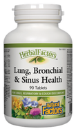 Natural Factors HerbalFactors Lung, Bronchial & Sinus Health 90 Tablets
