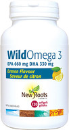 New Roots Wild Omega 3 EPA 660 mg DHA 330 mg 120 Softgels