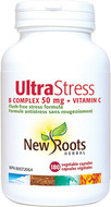 New Roots Ultra Stress B Complex 50 mg + Vitamin C 180 Veg Capsules
