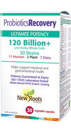 New Roots Probiotics Recovery 120 Billion 30 Veg Capsules