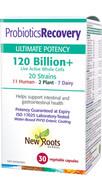 New Roots Probiotics Recovery 120 Billion 30 Veg Capsules