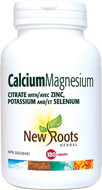 New Roots Calcium Magnesium Citrate 180 Veg Capsules