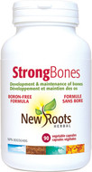 New Roots Strong Bones Boron-Free 90 Veg Capsules