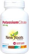 New Roots Potassium Citrate 100 mg 100 Veg Capsules