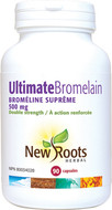 New Roots Ultimate Bromelain 500 mg 90 Veg Capsules