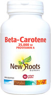 New Roots Beta-Carotene 25,000 IU Provitamin A 90 Veg Capsules