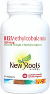 New Roots Vitamin B12 Methylcobalamin 1000 mcg 90 Veg Capsules