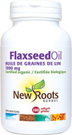 New Roots Flaxseed Oil 1000 mg Certified Organic 180 Softgels