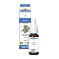 Biofloral No. 2 Aspen Organic Flower Essence Remedy 20 ml (19592)