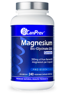 CanPrev Magnesium Bis Glycinate 200 mg Gentle 240 Veg Capsules