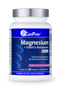 CanPrev Magnesium + GABA & Melatonin for Sleep 120 Veg Capsules