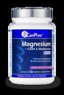CanPrev Magnesium + GABA & Melatonin for Sleep 120 Veg Capsules