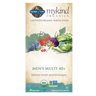 Garden of Life mykind Organics Men's Multi 40+ 60 Vegan Tablets