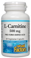 Natural Factors L-Carnitine 500 mg 60 Veg Capsules