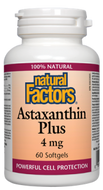 Natural Factors Astaxanthin Plus 4 mg 60 Softgels