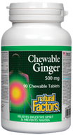 Natural Factors Chewable Ginger 500 mg 90 Tablets