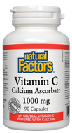 Natural Factors Vitamin C 1000 mg Calcium Ascorbate 180 Capsules