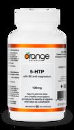 Orange Naturals 5-HTP 100 mg with B6 and Magnesium 60 Veg Capsules