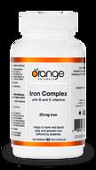Orange Naturals Iron Complex 20 mg 60 Veg Capsules