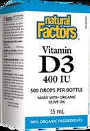 Natural Factors Vitamin D3 Drops 400 IU - 15 ml