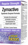 Natural Factors Zymactive Regular Strength 90 Enteric Coated Tablets