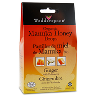 Wedderspoon Organic Manuka Honey Drops With Ginger 120 g