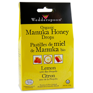Wedderspoon Organic Manuka Honey Drops With Lemon & Bee Propolis 120 g