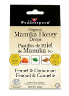 Wedderspoon Organic Manuka Honey Drop With Fennel & Cinnamon 120 g