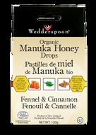 Wedderspoon Organic Manuka Honey Drop With Fennel & Cinnamon 120 g
