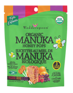Wedderspoon Organic Manuka Honey Pops Variety Pack 120 g