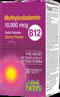 Natural Factors Methylcobalamin B12 10000 mcg Quick Dissolve 30 Sublingual Tablets