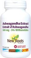 New Roots Ashwagandha Extract 500 mg 60 Capsules