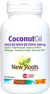New Roots Coconut Oil Extra Virgin and Organic 1000 mg 120 Softgels