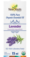 New Roots Lavender Essential Oil Certified Organic 15 ml