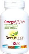 New Roots Omega 3 6 7 9 Certified Organic 90 Softgels