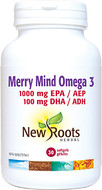 New Roots Merry Mind Omega 3- 30 Softgels