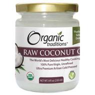 Organic Traditions Raw Extra Virgin Unrefind Coconut Oil 230 ml