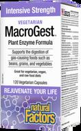 Natural Factors Vegetarian MacroGest Intensive Strength 120 Veg Capsules