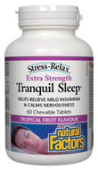 Natural Factors Stress-Relax Tranquil Sleep Extra Strenght 60 Chewable Tablets