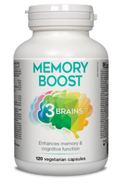 3 Brains Memory Boost 120 Veg Capsules