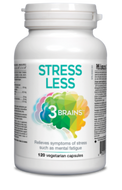 3 Brains Stress Less 120 Veg Capsules